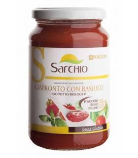 Salsa BIO de tomate y albahaca 340g de Sarchio