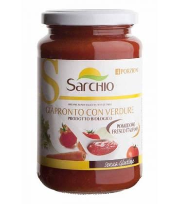 Salsa BIO de tomate con verduras 340g de Sarchio