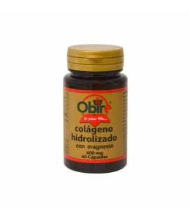 Colágeno marino hidrolizado con magnesio 60 cápsulas de 600mg de Obire