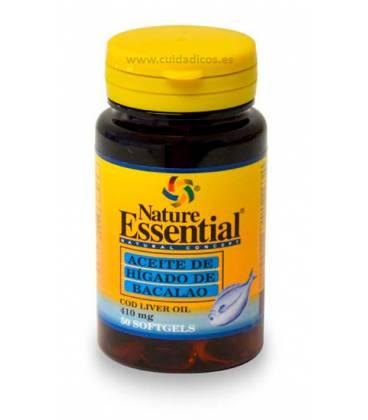Aceite de hígado de bacalao 50 perlas de 410mg de Nature Essential