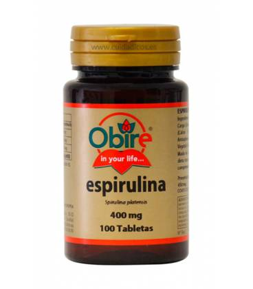ESPIRULINA 400mg 100 Comprimidos de Obire