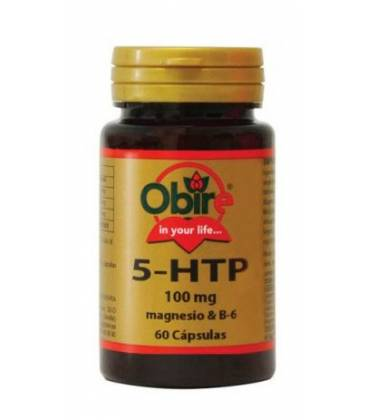 TRIPTOFANO (5HTP 100mg) MAGNESIO B6 60 Cápsulas de Obire