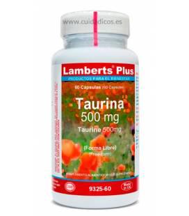 Taurina 500mg 60 cápsulas de Lamberts Plus