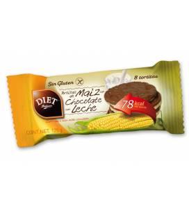 TORTITAS DE MAIZ CHOCOLATE CON LECHE SIN GLUTEN 125g de Diet Radisson