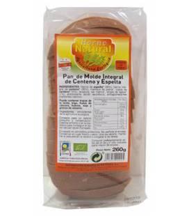 Pan molde integral centeno y espelta BIO 260g de Horno Natural