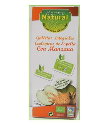 Galleta integral espelta manzana BIO 100g de Horno Natural