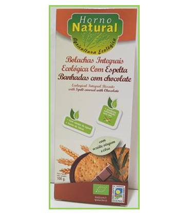 Galleta integral espelta chocolate BIO 100g de Horno Natural