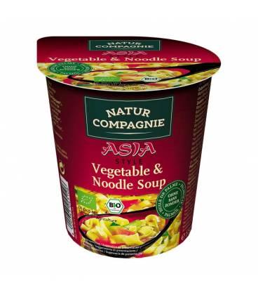 Sopa instantánea Asia pasta y verduras BIO 55g vaso de Natur Compagnie