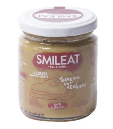 Potito BIO ternera con verduras 230g 6 meses de Smileat