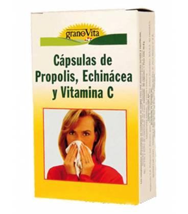 Propóleo, Vitamina C y Echinácea 30 cápsulas de Granovita