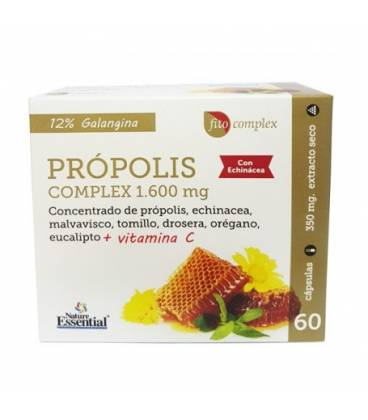 Propolis complex 1600 mg 60 capsulas de Nature Essential