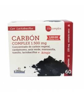 Carbón complex 1500 mg 60 cápsulas de Nature Essential
