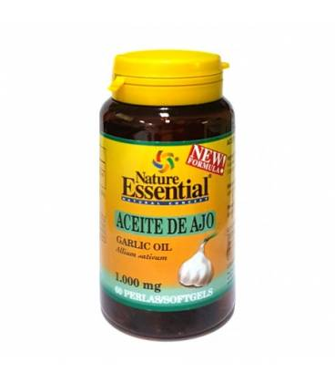 Aceite de ajo 1000 mg 60 perlas de Nature Essential