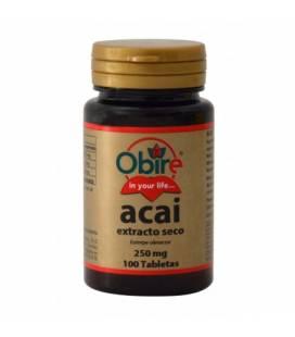 Acai extracto seco 250mg 100 comprimidos de Obire
