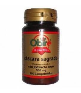 Cascara sagrada extracto seco 500 mg 100 comprimidos de Obire
