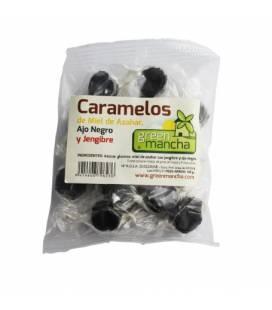Caramelos miel ajo negro y jengibre 100g de Green Mancha