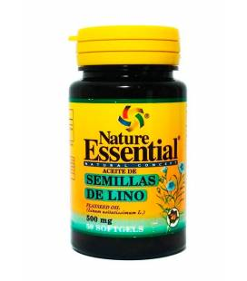 Aceite de semilla lino 50 perlas de 500mg de Nature Essential
