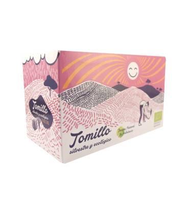 Tomillo BIO y silvestre 20 infusiones de Andunatura