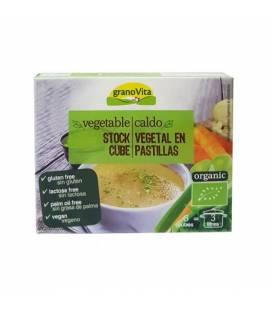 Caldo vegetal bajo en sal BIO 6 cubitos 66g de Granovita