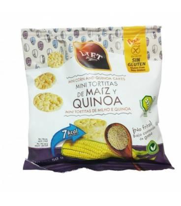 Mini tortitas de maiz y quinoa sin gluten 50g de Diet Rádisson