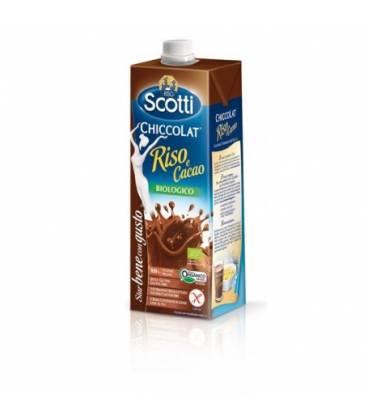 Bebida BIO de arroz y chocolate 1L de Riso Scotti