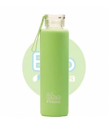Botella bbo verde borosilicato con silicona 550ml de Irisana