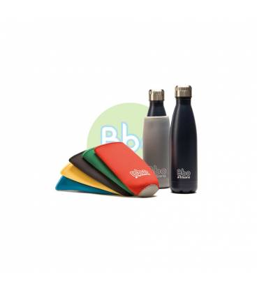 Botella Bbo de acero inoxidable con funda de neopreno 350ml de Irisana