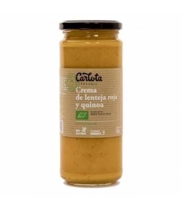 Crema de lenteja roja y quinoa 450 g de Carlota Organic