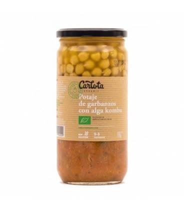 Potaje de garbanzos con alga kombu 720 g de Carlota Organic