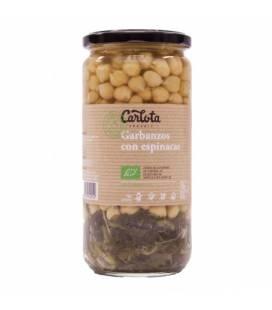 Garbanzos con espinacas 720 g de Carlota Organic