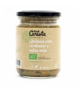 Quinoa con verduras y salsa soja 425 g de Carlota Organic