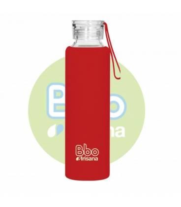 Botella bbo roja borosilicato con silicona 550 ml de Irisana