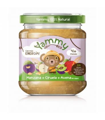 Potito manzana,ciruela y avena BIO (+4meses) 195 g de Yammy