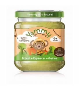 Potito de brócoli, espinacas y quinoa BIO (+6meses) 195 g de Yammy