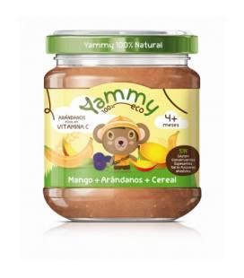 Potito de mango, arándanos y cereal BIO (+4meses) 195 g de Yammy