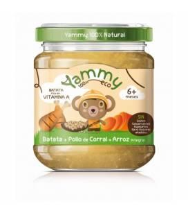 Potito batata,pollo de corral y arroz integral (+6meses) 195 g de Yammy