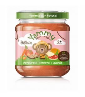 Potito de verduras, ternera y quinoa (+6meses) 195 g de Yammy