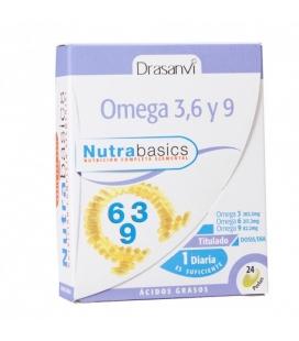 Omega 3, 6 y 9 Nutrabasics 24 perlas de Drasanvi