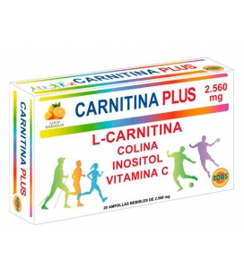 Carnitina Plus 20 ampollas de 2.560 mg de Robis