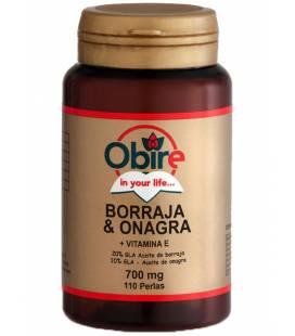 Borraja y onagra + vitamina E 110 perlas de 700mg de Obire