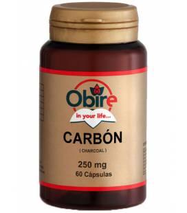 CARBON ACTIVADO 250mg 60 Cápsulas de Obire