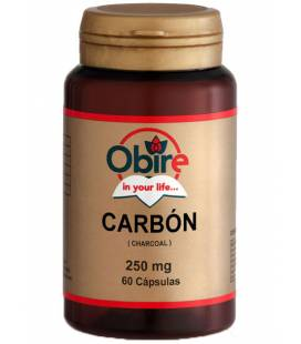Carbón activado 60 Cápsulas de 250mg de Obire