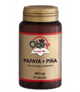 Papapya+piña 90 Cápsulas de 400mg de Obire