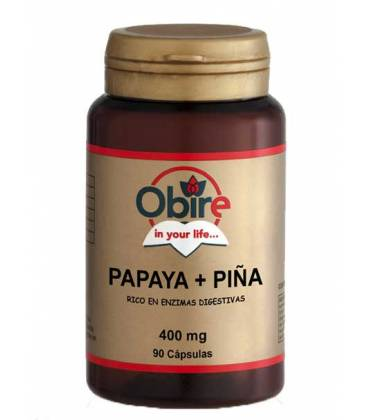 Papaya+piña 90 Cápsulas de 400mg de Obire