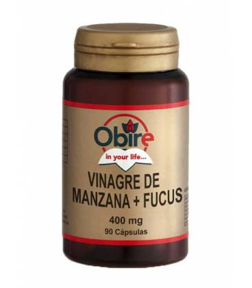 VINAGRE DE MANZANA+FUCUS 400mg 90 Cápsulas de Obire