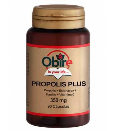 PROPOLIS PLUS (Propolis + Echinácea + Tomillo + Vitamina C) 90 Cápsulas de Obire