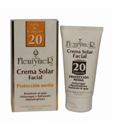 Crema solar facial factor 20 80ml de Fleurymer