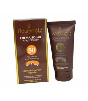 Crema solar facial especial deporte y montaña factor 50 80ml de Fleurymer