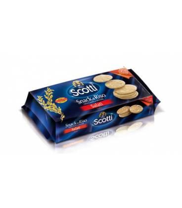 SNACK ARROZ CON SAL 100g sin gluten de Riso Scotti