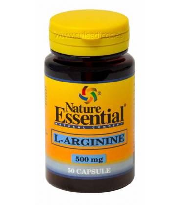 L-Arginina 50 Cápsulas de 500mg de Nature Essential
